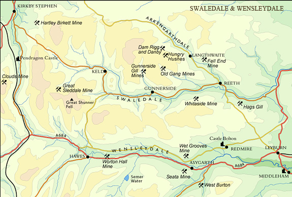 Swaledale & Wensleydale map