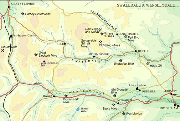 Swaledale & Wensleydale map