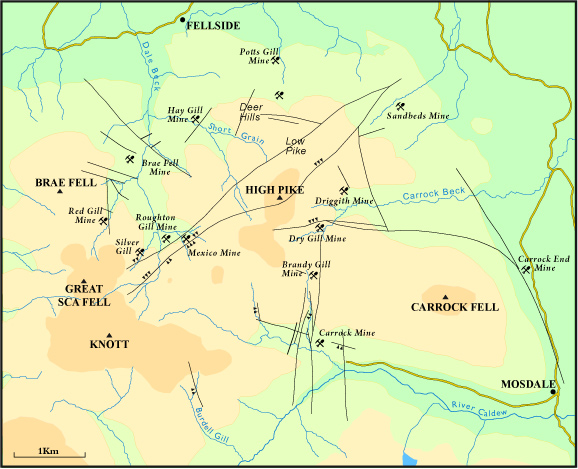 caldbeck falls map