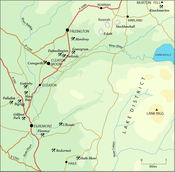 west cumbria map