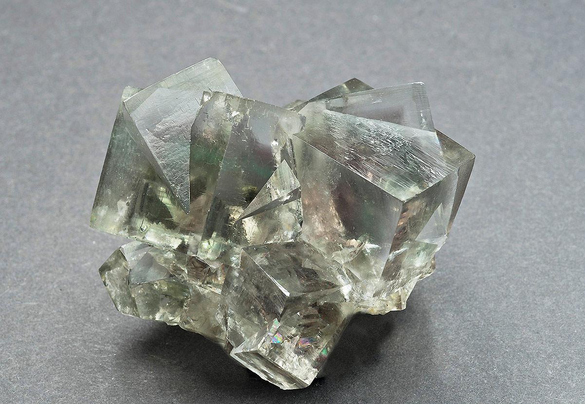 Fluorite, 'Zinc flat', Cambokeels mine, Eastgate, Weardale. 55x40x40mm