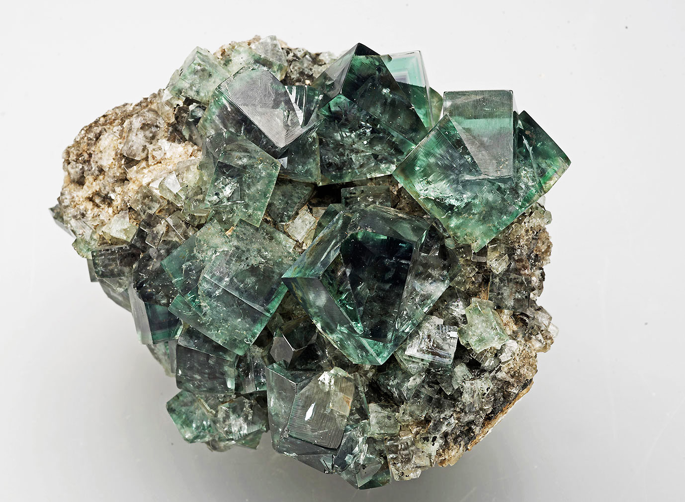 Fluorite, Eastgate Cement quarry, Weardale. 75x60x45mm