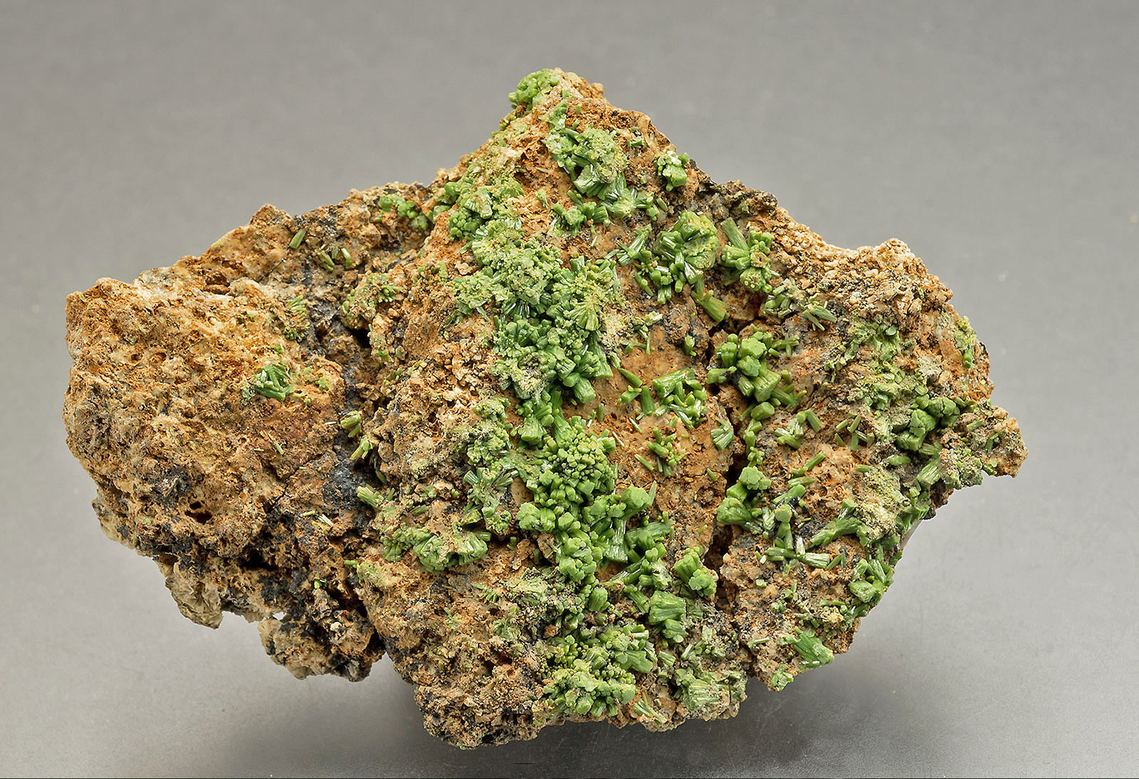 Pyromorphite, Hungry Hushes, Arkengarthdale.  65x45x10mm